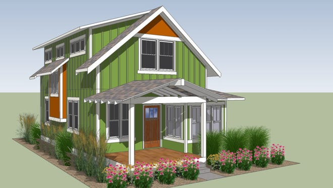 An artist's rendering of what a house in Cottages on Laporte might look like.