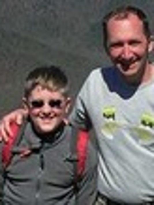 John Liszewski and his son Eryk.
