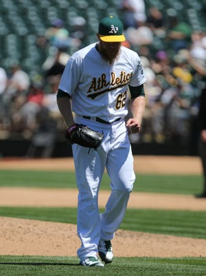 Oakland Athletics relief pitcher Sean Doolittle is headed back to the disabled list.
