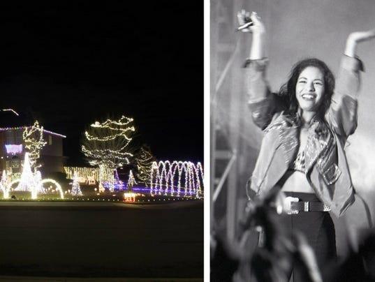 selena christmas lights