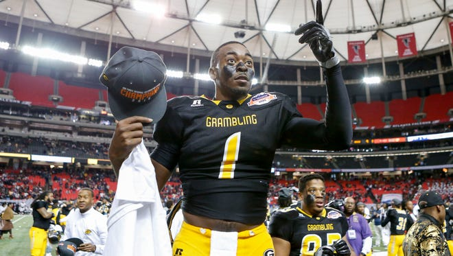 Grambling quarterback Devante Kincade (1) could be the next NFL player to come from the Tigers' program.