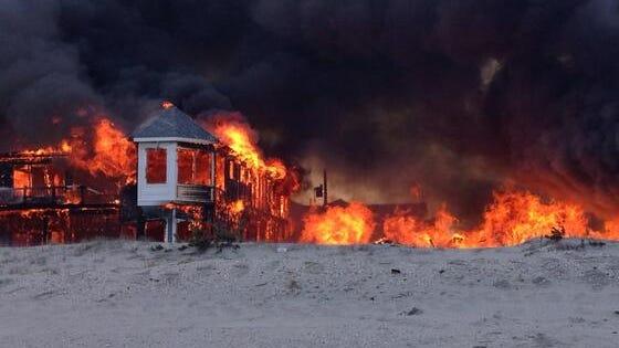 House fire near 79th street in Sea Isle City, N.J.