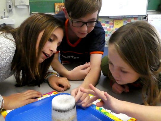 Fifth-graders at Cottage Lane Elementary in South Orangetown