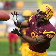 Arizona State's Gary Chambers against Washington State in  their  NCAA football game Saturday, Nov 17, 2012 in Tempe.