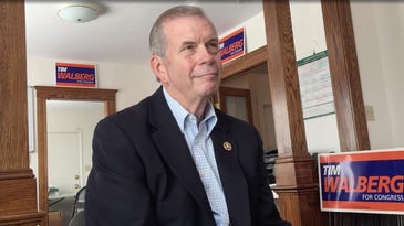 U.S. Rep. Tim Walberg (R-7th District) makes an appeal for re-election from his campaign office in Jackson, Michigan. (September, 2016)