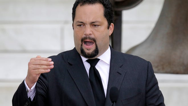 NAACP President and CEO Benjamin Jealous at the commemoration of the 50th anniversary of the March on Washington on Wednesday.