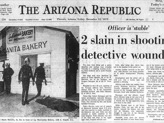 The front page of the Arizona Republic the day after the incident.