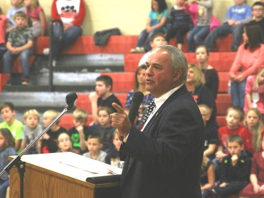 Rep. Tim Wirgau was a guest speaker  at the Veterans