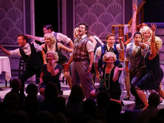 """The cast of """"Nice Work If You Can Get It"""" performs the opening scene at Missouri State University's Tent Theatre in 2017."""
