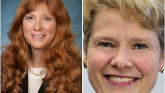 Either Billie O'Berry, left, or Carol Siemon will become the first woman elected as Ingham County's prosecuting attorney.
