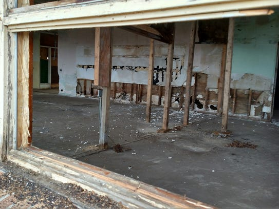 The condition inside the old school had badly deteriorated,