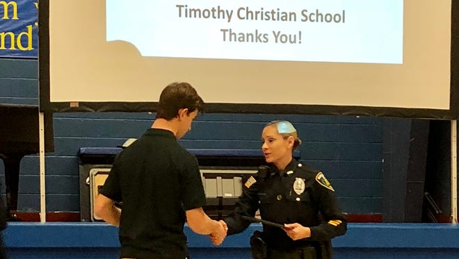 Timothy Christian School in Piscataway honored more than 50 law enforcement officers on Tuesday. The event was held in conjunction with National Law Enforcement Day.