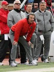 Ohio State coach Urban Meyer on the sideline in the