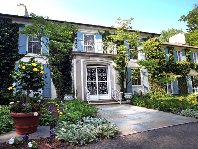 Built in 1941 the Colonial-style  home was first owned by department store magnet Lyman S. Ayres. His family moved into the home one month after the attack on Pearl Harbor.
