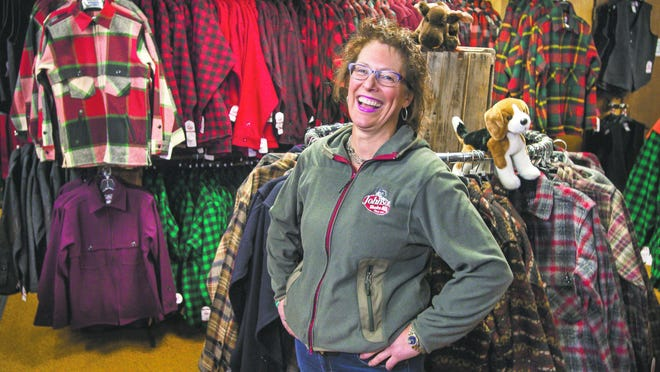 Owner Stacy Barrows Manosh is the fourth generation of her family to run Johnson Woolen Mills.