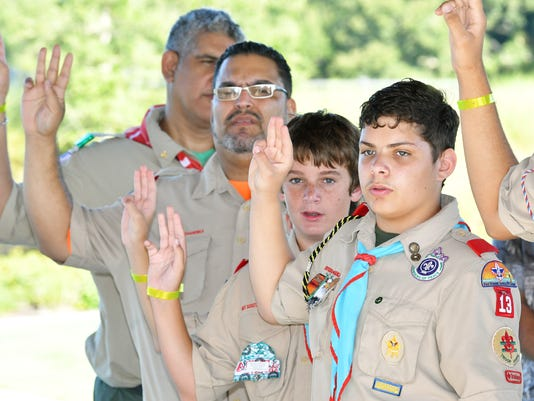 Boy Scouts honor veterans at Cape Canaveral National Cemetery