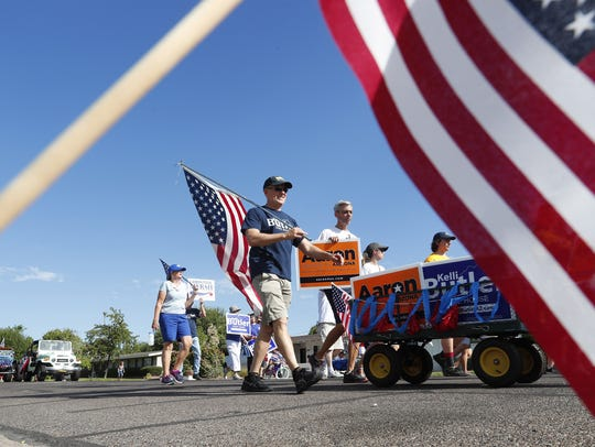 The Arcadia 4th of July parade makes its way down E.