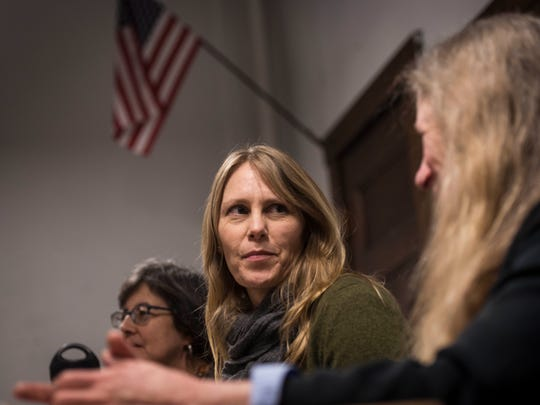Attorney Erin Jacobsen of the South Royalton Legal Clinic was part of Tuesday night's Q & A to answer questions and hear concerns about President Donald Trump's recent executive order. Although stalled by the courts, many expressed concern about leaving the country to visit family for fear of not being allowed back in because of their religion or where they came from.
