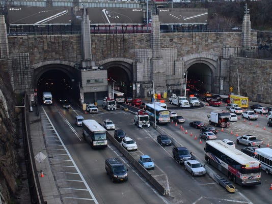 Traffic at the Lincoln Tunnel