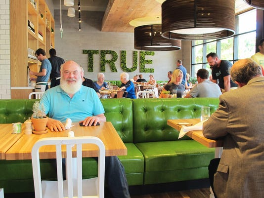 celebrity holistic health guru poses for a portrait friday at true food kitchen a newly opened restaurant he co created at waterside shops in naples - True Food Kitchen Naples
