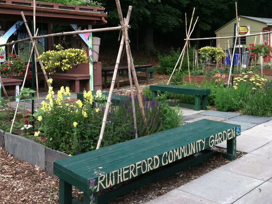 The Rutherford Community Garden is located on Erie
