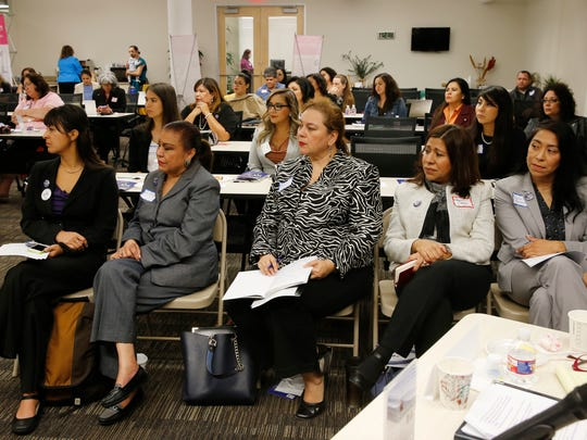 More than 50 women attended the Latina Game Changers: Strength, Power and Influence Through Politics Forum on Friday morning. Former County Judge Veronica Escobar, El Paso County Attorney JoAnne Bernal, state Rep. Mary González, state Rep. Lina Ortega, city Rep. Claudia Ordaz-Perez and Las Cruces Board of Education President Maria Flores spoke to the group. The forum featured keynote speakers Irasema Coronado, Ph.D., and Christine M. Sierra, Ph.D.