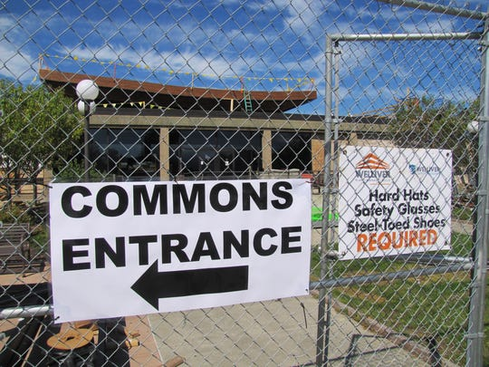 Much of the Commons building on the CCC campus is still under construction and closed to students.