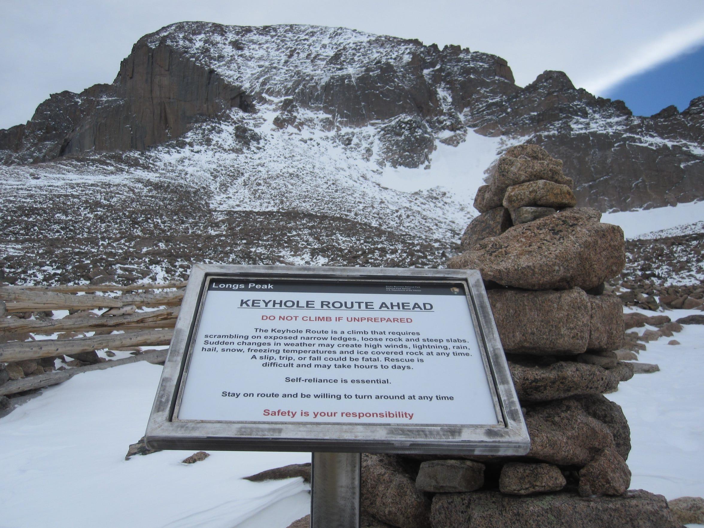 FTC0629-sp longspeak boulderfield sign