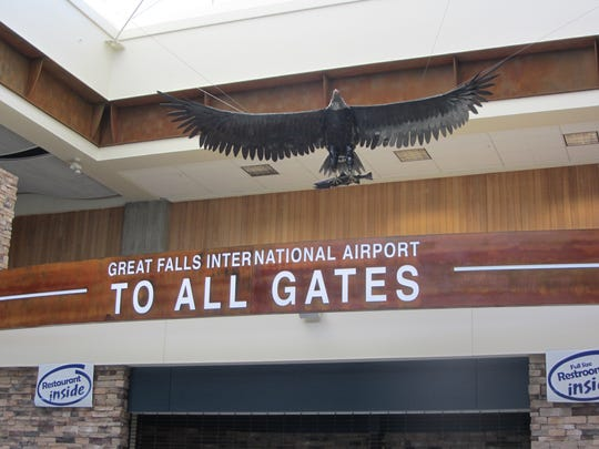 Entry to all gates at the Great Falls airport.