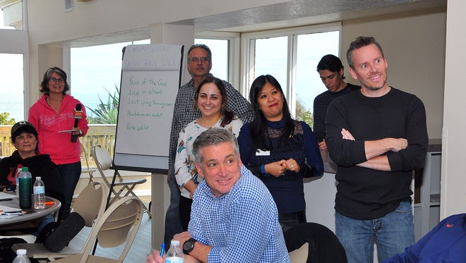Florida Today staff and guests participate in the 2016 newsroom retreat held at the Pelican Park clubhouse in Satellite Beach.