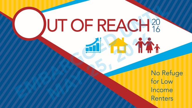 The annual Out of Reach report from the National Low Income Housing Coalition was released Wednesday.