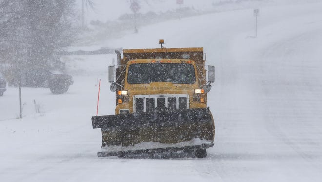 Snow  removal services and plows were at work Saturday and Sunday throughout Door County and other counties.