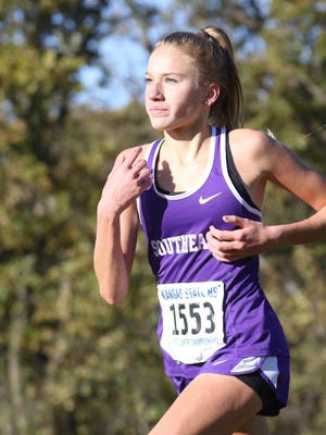 Southeast-Saline's Jentrie Alderson transferred in from Salina South last year and captured the Class 3A state championship.