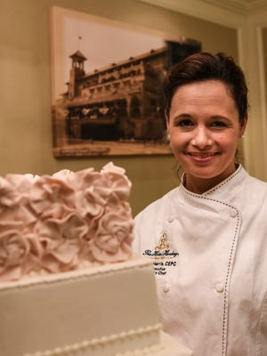 """Chef Cher Harris, pastry chef at The Hotel Hershey, was named Pastry Chef of the Year by the American Culinary Federation after winning the """"Cook. Craft. Create. Convention and Show"""" in Phoenix, Ariz., on July 18, 2016. Harris, pictured at The Hotel Hershey on Thursday, March 3, 2016, qualified for the national award by winning the American Culinary Federation Northeast Region Pastry Chef of the Year 2016 competition."""