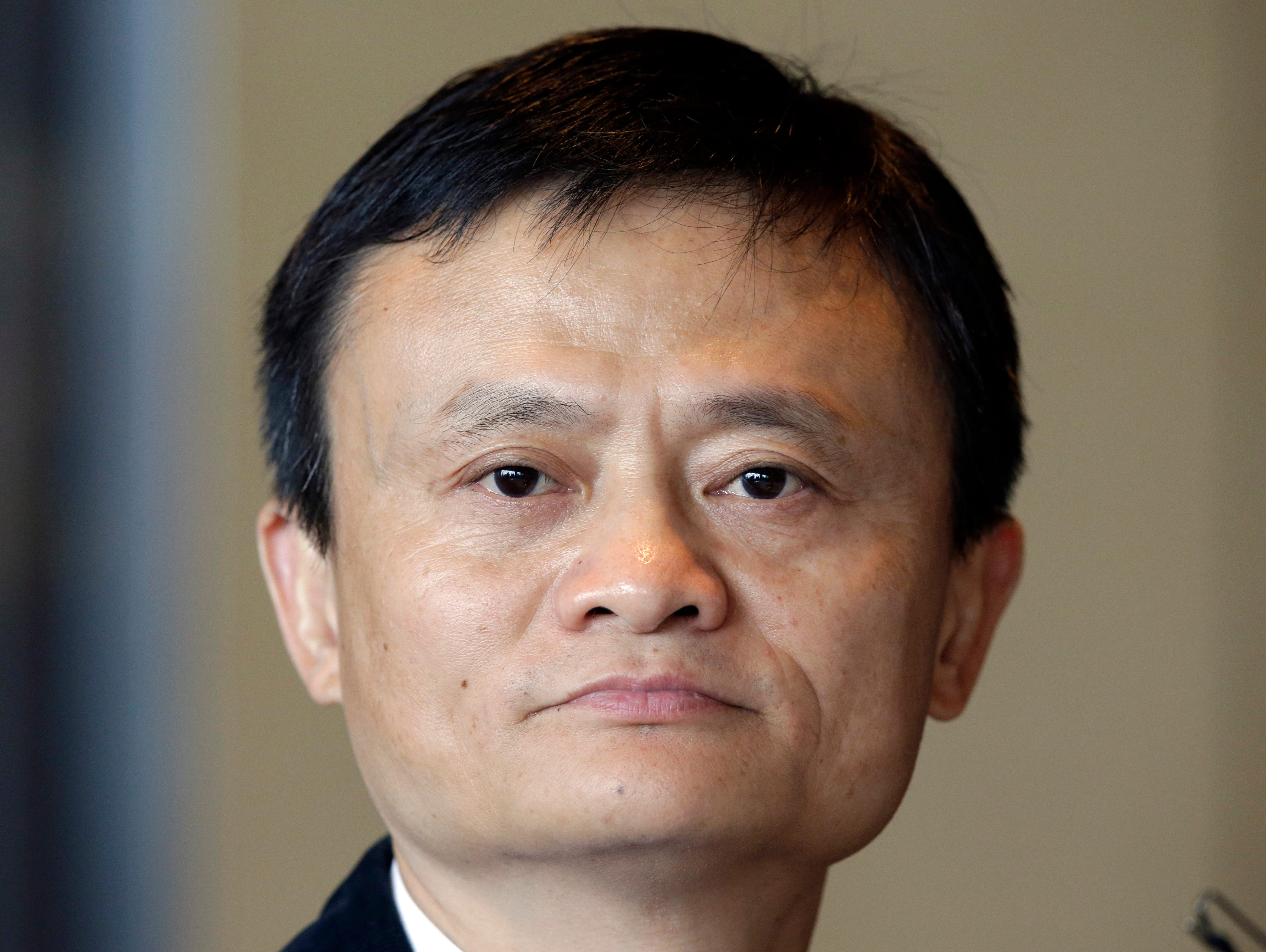 Alibaba Group Executive Chairman Jack Ma waits for a reporter's question during a news conference in Seoul, South Korea, Tuesday, May 19, 2015.