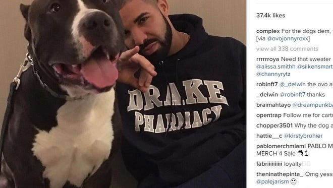 A screenshot of Drake's Manager Oliver El-Khatib, showing Drake in a Drake Pharmacy sweatshirt.