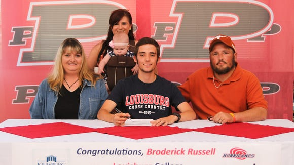 Pisgah senior Broderick Russell has signed to run college cross country and track for Louisburg.