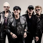 The members of The Scorpions — from left, Rudolf Schenker, Pawel Maciwoda, Klaus Meine, Matthias Jabs and James Kottak – begin a 16-city North American tour Sept. 10