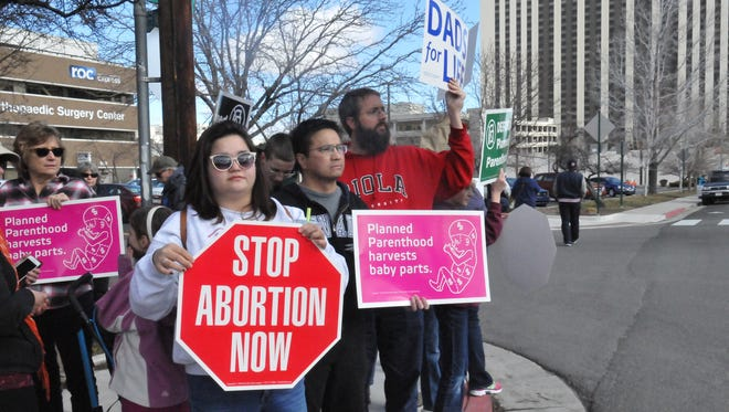 Two protests were planned at Reno's Planned Parenthood located on Fifth Street on Saturday, Feb. 11, 2017.