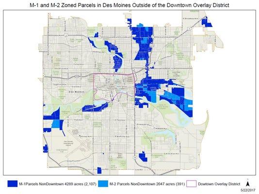 Fireworks sales map Des Moines