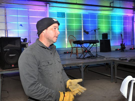 Craig Carter talks about his plans to convert the former Nocona Boot Co. building into a concert venue, food bank, restaurant and vehicle auction site. Carter's background is in designing and installing high-end audio/visual systems for churches and other venues.