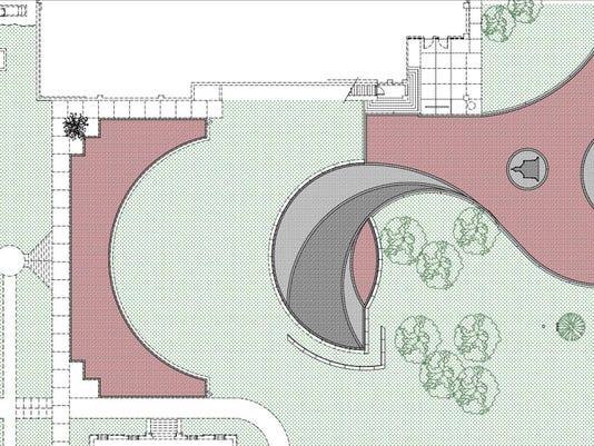 Amphitheater paver plan