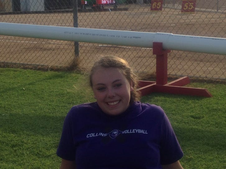 Fort Collins High School's Emma Dern finished second in the shot put in the open division of the Arcadia Invitational with a personal best throw of 39-feet and 1.5-inches. It beat her previous best by two feet.