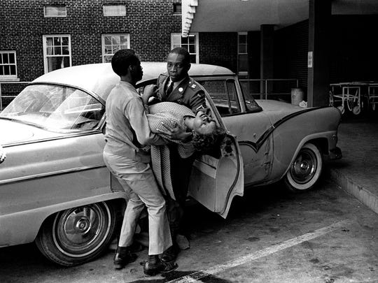 The tragic tally of March 28, 1968: one killed, 62 injured. John Gaston Hospital was crowded with victims of the violence that erupted during a march led by Dr. Martin Luther King Jr. on behalf of striking sanitation workers.