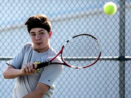 Watkins Memorial sophomore, Braden Clear, practices