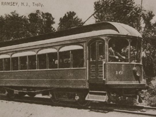 Picture of the past: A trolley on the former Ramsey