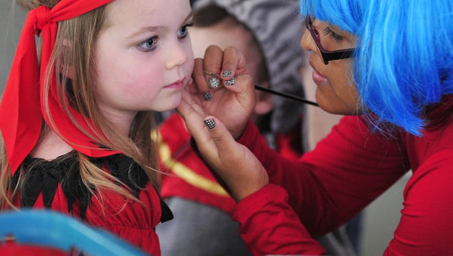 Face painting is just one part of the Halloween festivities taking place at Deepwood Museum on Oct. 31.