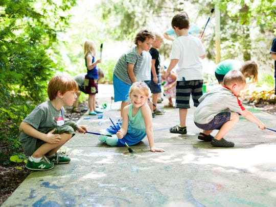 Mud Splash is a camp at the Indianapolis Museum of