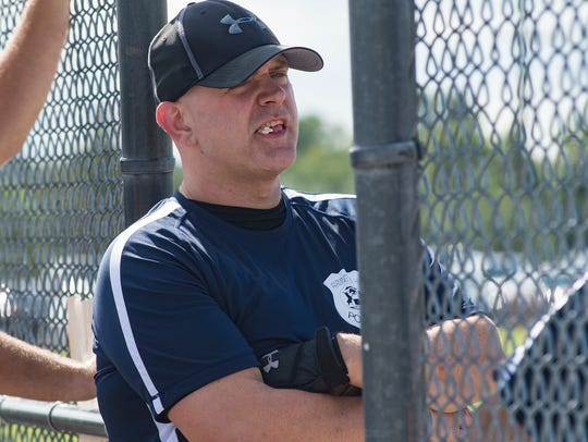 """""""There's no crying in softball!"""" Coach Chad Double"""