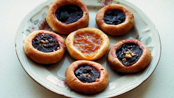 Kolaches, with a variety of fruit fillings, will be